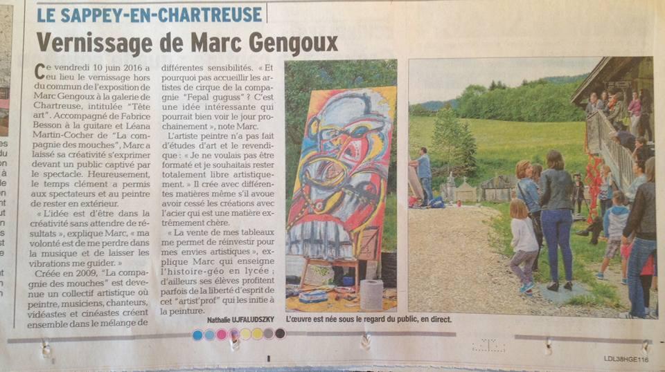 La presse en parle : Marc Gengoux et Les Mouches